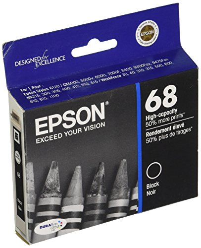 Epson T068120-S Ink Cartridge High Capacity (Black) in Foil - 615 Ink Epson