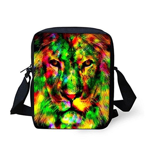 messenger CHAQLIN Body Shoulder Sling Bag Small Horse Cross Lion Unisex Bag Bag Messenger gOnqSwpOR