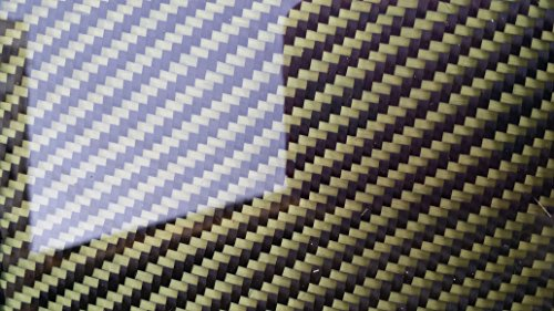 Real Carbon Fiber Kevlar Hybrid Fiberglass Panel Sheet Board Plate 6