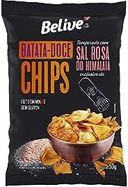 Batata-Doce Chips Belive temperado com Sal Rosa do Himalaia BR Spices - 50g