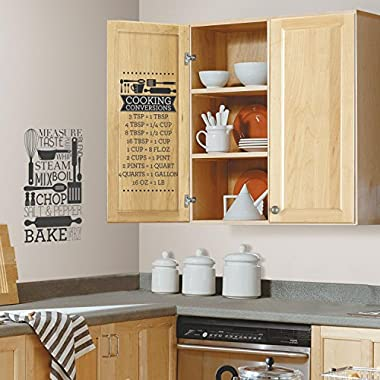 RoomMates RMK2745SCS Cooking Conversions Peel and Stick Wall Decals