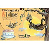 Thoughts & Felines - Leanin' Tree Greeting Card Assortment (AST90603) - 20 cards with full-color interiors and 22 designed envelopes