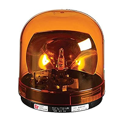 Federal Signal 449112-02 Class 1 Sentry Halogen Beacon, Permanent Mount with Dome, CAC Title 13, 175 FPM, Amber: Automotive