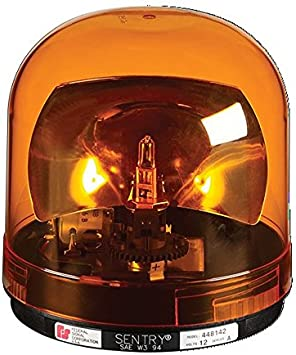 Amber 175 FPM Federal Signal 449142-02 Class 1 Sentry Halogen Beacon Magnetic Mount with Dome CAC Title 13