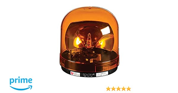 Federal Signal 448142-02 Sentry Halogen Beacon Class 1 CAC Title 13 Magnet Mount with Amber Dome