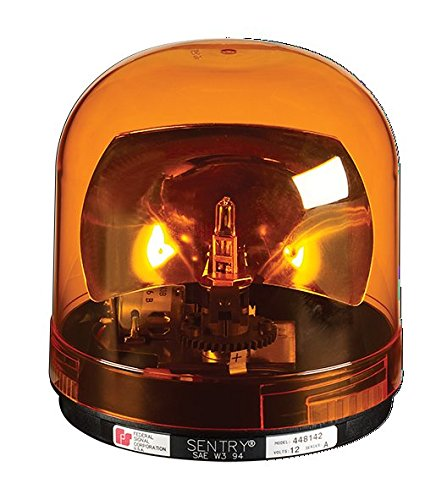 Federal Signal 449112-02 Class 1 Sentry Halogen Beacon, Permanent Mount with Dome, CAC Title 13, 175 FPM, Amber