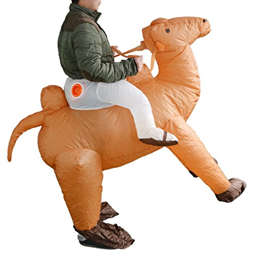 Homyl Adult Inflatable Costume Camel Suit Halloween Party Rider Outfit