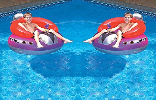 2) Swimline 9078 Swimming Pool UFO Squirter Toy Inflatable Lounge Chair Floats