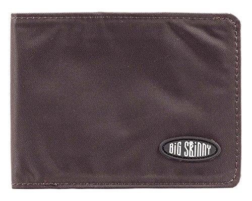Big Skinny Men's Slimline Bi-Fold Slim Wallet, Holds Up to 25 Cards, Brown