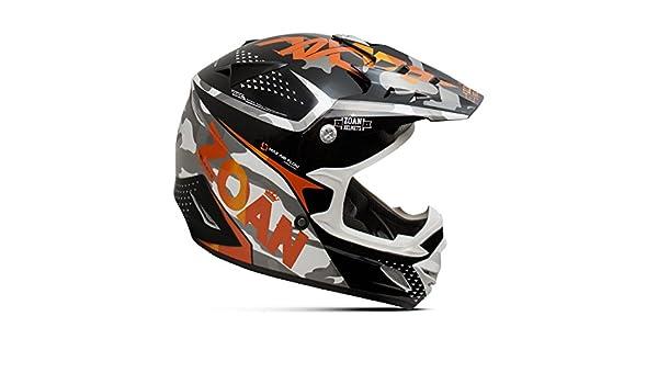 Amazon.es: Zoan MX-1 Sniper negro naranja Offroad Motocross Motocicleta Casco de equitación, tamaño mediano