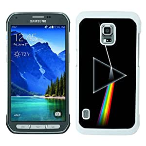 Beautiful Samsung Galaxy S5 Active Cover Case ,Newest And Durable Designed Case With Pink Floyd The Dark Side Of The Moon White Samsung Galaxy S5 Active Case Unique And Cool Phone Case