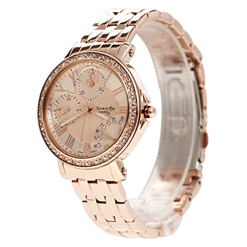 aa027d250 Buy Casio Sheen Analog Pink Dial Women's Watch - SHN-3011PG-9ADR (SX143)  Online at Low Prices in India - Amazon.in
