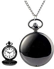 Avaner Orologio da Tasca, al quarzo Colore Nero/Argento, Orologio Classico Orologio Simpatico, da Donna Uomo Regalo