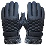 ABC® Mens Anti Slip Thermal Winter Sports Leather Touch Screen Gloves