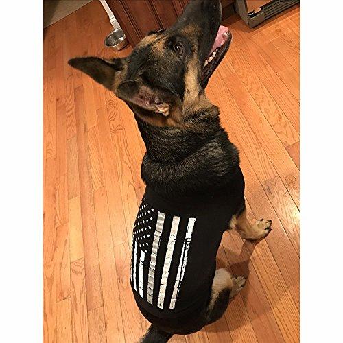 American Thin Grey/Silver Line Flag Doggie Skins Dog Tank- 3X-Large