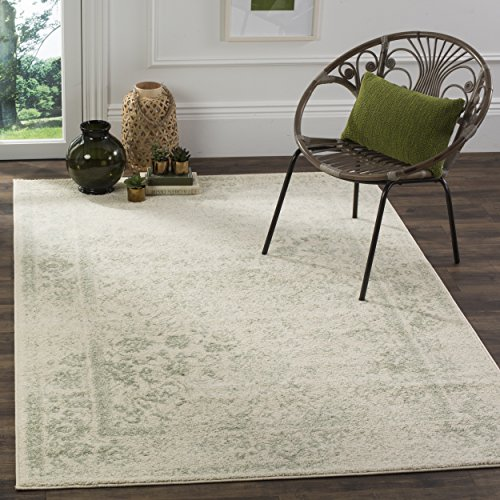 Safavieh Adirondack Collection ADR109V Ivory and Sage Oriental Vintage Distressed Area Rug (9