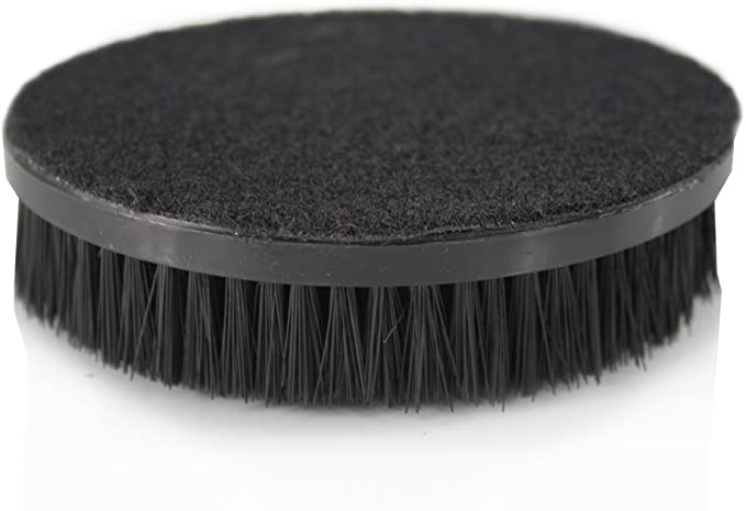"""Carpet Seat Upholstery Mat 5/"""" Round Spinner Brush Hook-N-Loop Backing Attachment"""