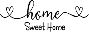 MOVANKRO Home Sweet Home Heart Shape Home Décor Art Letters Vinyl Wall Decal Sayings