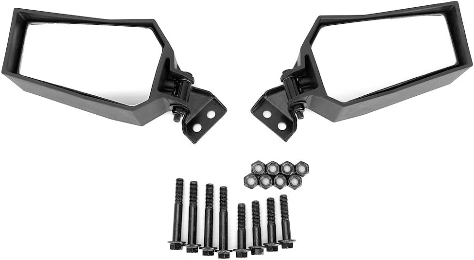 kemimoto RZR Folding Side View Mirrors Compatible with RZR XP 900 1000 Adjustable Clear Rear Side View Mirrors #2881198