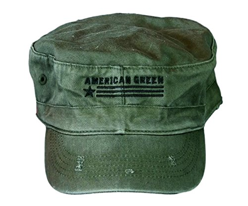 American Green Distressed Revolution - Hat Army Fidel