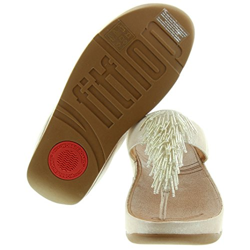 FitFlop ChaTM Perles-Cha-Tongs-Argent