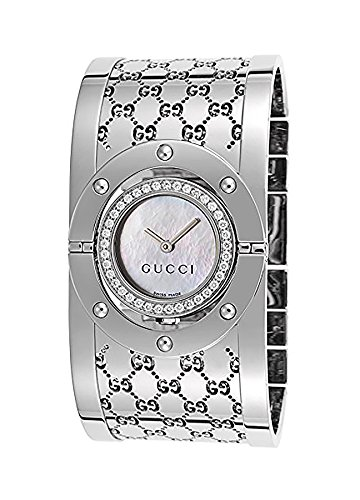 9a930a2d0ae GUCCI Women s YA112415 112 Diamond Bangle Mother-of-Pearl Dial Watch   Amazon.ca  Watches