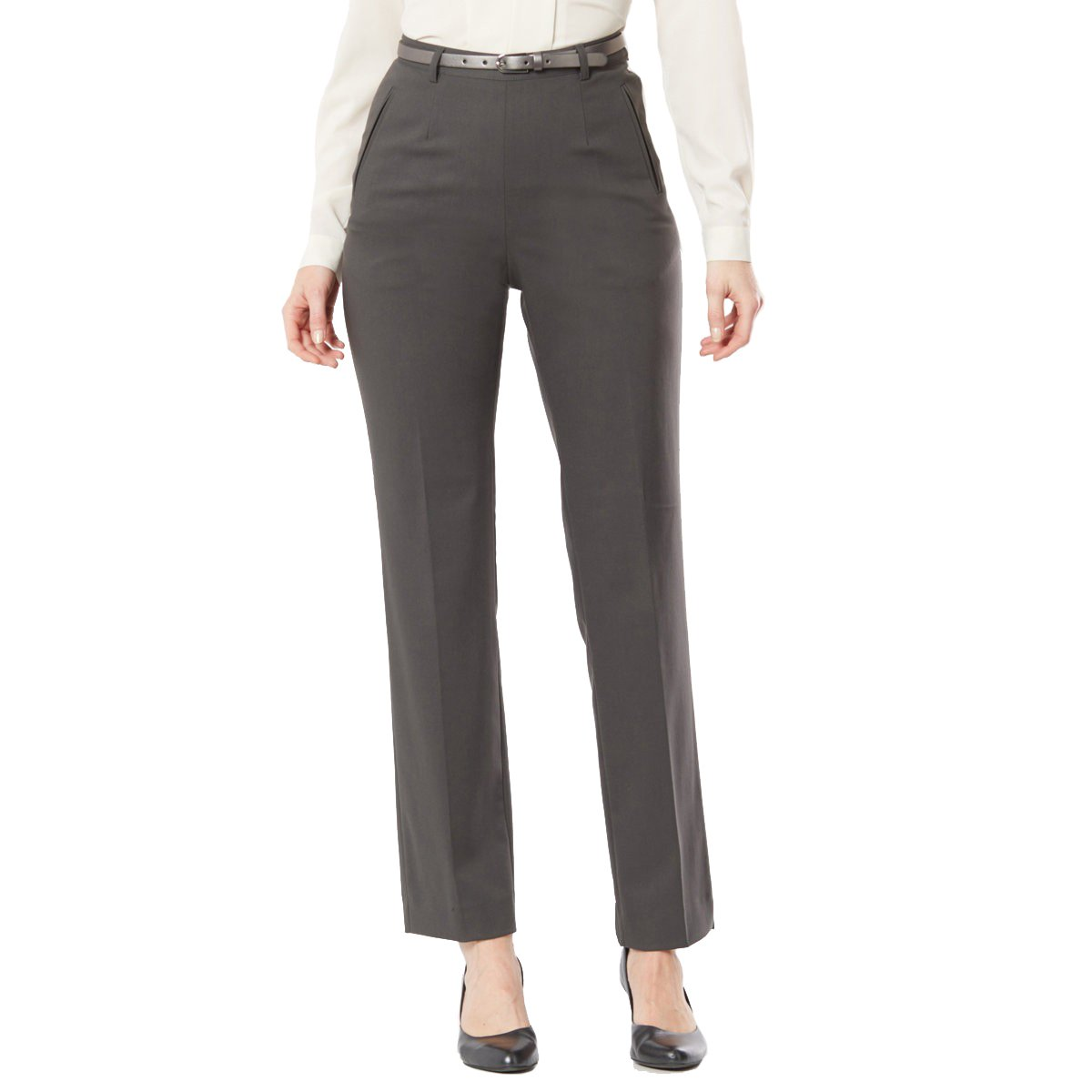 La Redoute Womens Straight Trousers Grey Size Us 12 - Fr 42