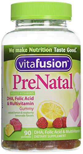 Vitafusion Prenatal, Gummy Vitamins, 90 Count (Cherry Chewable Medicine)