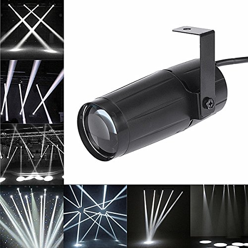 LED Beam Pinspot Light KINGSO 3W Mini Stage Lights Spotlight Track Lighting for Children's Theater Family Party Club Cinema Karaoke Wedding or Outdoor Show - Pure White -