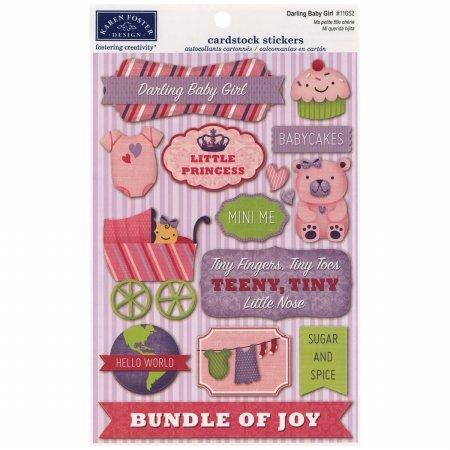 Karen Foster KF11652 Baby Girl Cardstock Stickers 5.5 in. X9 in. -Darling Baby Girl