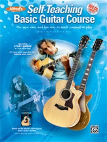 Alfred's Self-Teaching Basic Guitar Course Book, CD & DVD