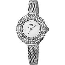 Burgi Women's Swarovski Crystal & Diamond Accented Stainless Steel Mesh Bracelet Watch - BUR236SS