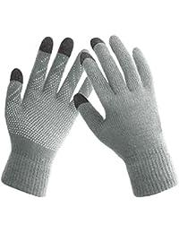 Winter Gloves Women Touch Screen Warm Ski Snow Knit Gloves Outdoor Mittens