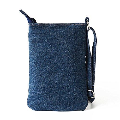 Smile-YZ - Bolso mochila  para mujer multicolor Deep Brown 065-Zipper