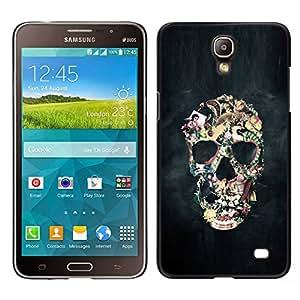 Be-Star Único Patrón Plástico Duro Fundas Cover Cubre Hard Case Cover Para Samsung Galaxy Mega 2 ( Biker Black Smoke Life Skull Death )