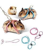 zhuangyulin6 1PC Cuerda de arnés de hámster, Arnés de hámster para Mascotas, Encantador Ajustable Ratón de Mascota Ratón Arnés de hámster Cuerda Buscador de hurón Correa de Plomo con Campana