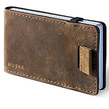 Slim Leather Card Holder Front Pocket Wallet - Stitch-less - HUSKK