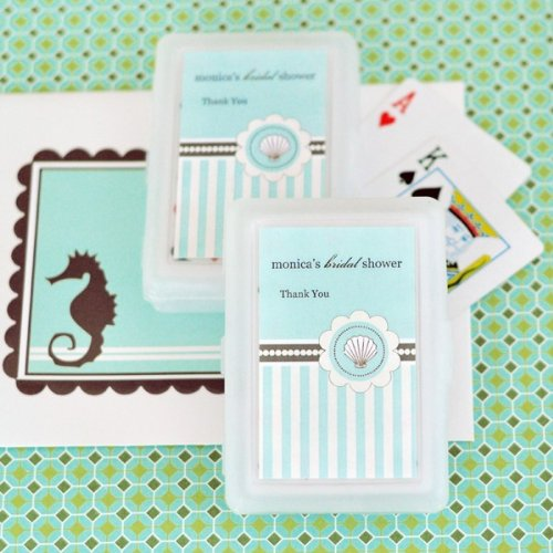 Personalized Playing Cards - Beach Party - Total 50 items (Wedding Favors Cards Playing Personalized)