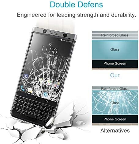 ZENGMING Tempered Glass Film Screen Protector XINGHCEN 100 PCS for BlackBerry Keyone 0.26mm 9H Surface Hardness 2.5D Curved Edge Tempered Glass Screen Protector Anti-Scratch