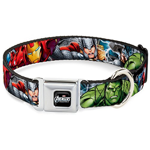 Buckle Down DC-WAV002-L AVA Marvel Comics Dog Collar