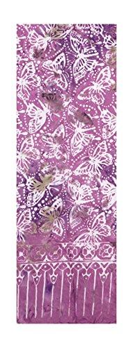 Batik Scarf - Butterflies on a Cheerful Light Violet