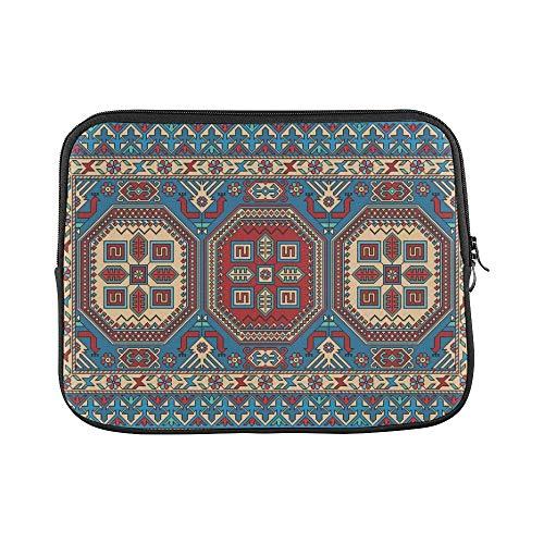 Design Custom Colorful Oriental Mosaic Kazak Rug Traditional Sleeve Soft Laptop Case Bag Pouch Skin for MacBook Air 11
