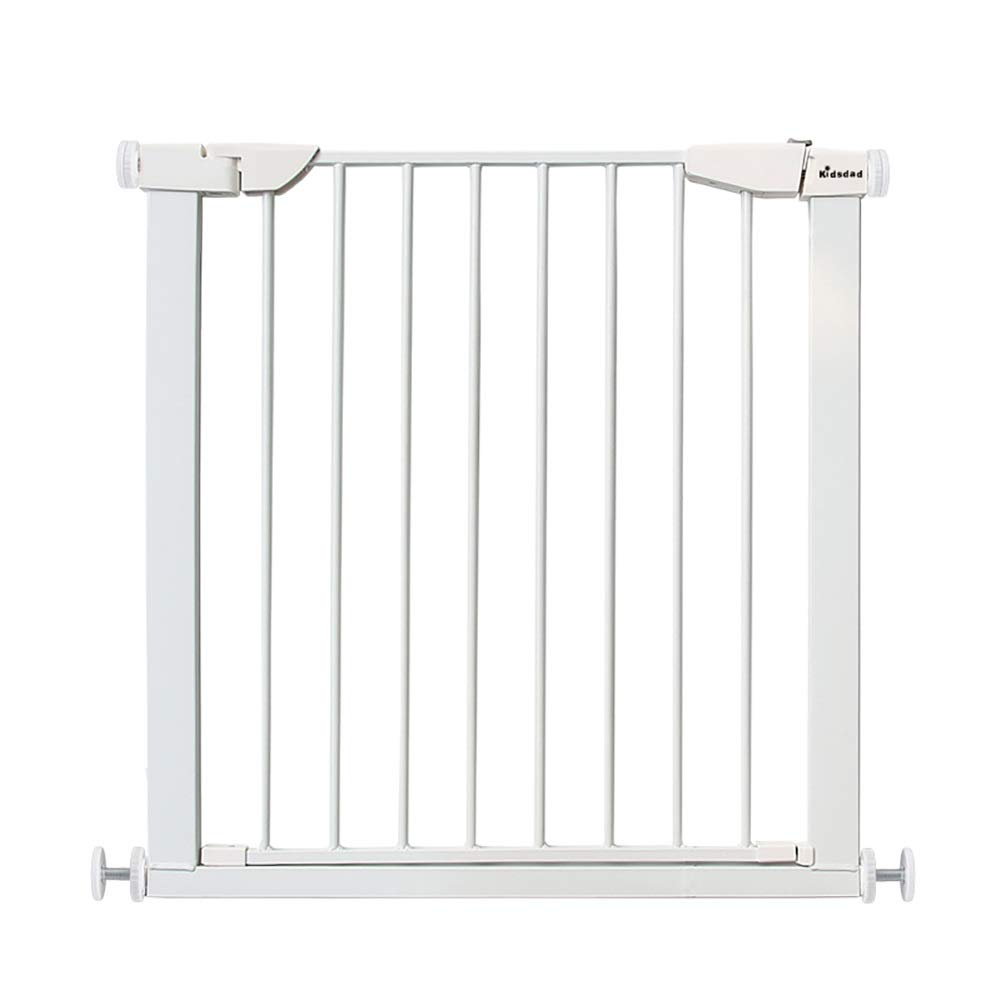 75-82CM Stair gates Baby Gates Pressure Mount Baby for Doorway, Metal Self Closing Dog Gate for Pet, Wood Walk-thru Door, 75-166cm Extra Wide (Size   75-82CM)