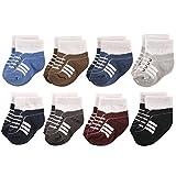 Hudson Baby Basic Socks, 8 Pack, Boy Athletic, 6-12