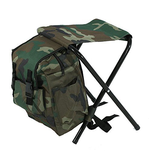 Alomejor Outdoor Carry Seat, Foldable Camping Fishing Stool Convenient With Storage Bag by Alomejor