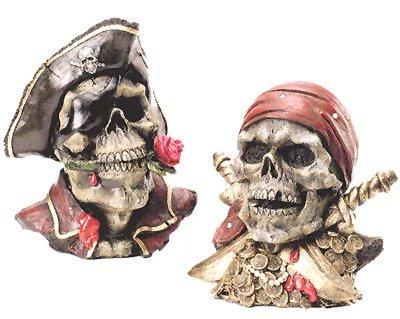 セットの2つの海賊スカルバンク   B003WFWZSK