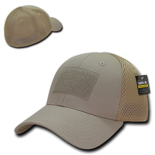 Rapid Dominance Tactical Low Crown Flex Fitting Mesh Back Cap - Khaki