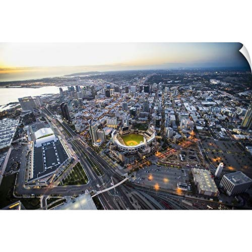 (CANVAS ON DEMAND Copter Pilot Wall Peel Wall Art Print Entitled Petco Park and Downtown San Diego 30
