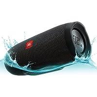 JBL Charge 3 Portable Bluetooth Speaker, Black Waterproof Speaker