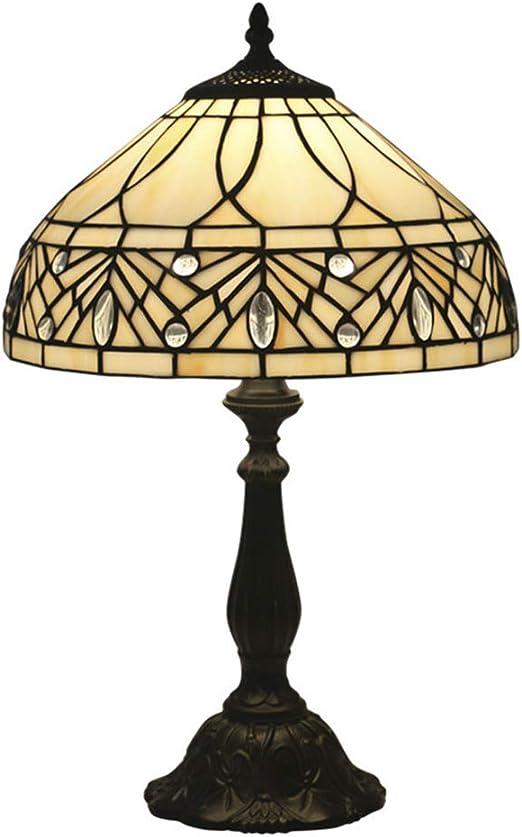 12 Pulgadas Barroco Europeo Lámpara de Mesa Tiffany Style Vitral ...